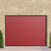 Ворота гаражные секционные Ryterna TLB stucco узкий гофр RAL 3000