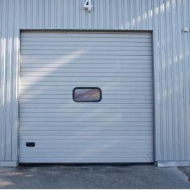 Ворота гаражные секционные Ryterna TLB woodgrain узкий гофр RAL 9002