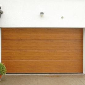 Ворота гаражні секційні Ryterna TLB woodgrain дошка Golden oak