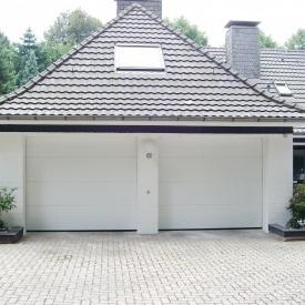 Ворота гаражные секционные Ryterna R40 slick доска RAL 9016 белый