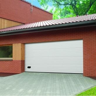 Ворота гаражные секционные Ryterna TLB stucco узкий гофр RAL 9016 белый