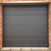 Ворота гаражні секційні Ryterna R40 slick широкий гофр RAL 7016