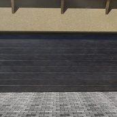 Ворота гаражные секционные Ryterna TLB slick широкий гофр Dark oak