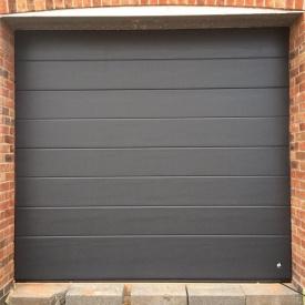 Ворота гаражные секционные Ryterna TLB slick широкий гофр RAL 7016