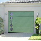 Ворота гаражні секційні Ryterna R40 slick мікросмуга RAL 6021