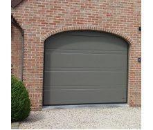 Ворота гаражные секционные Ryterna R40 slick верхняя полоса RAL 7042