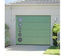 Ворота гаражные секционные Ryterna R40 slick микрополоса RAL 6021