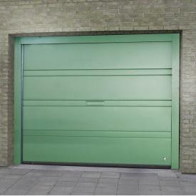 Ворота гаражные секционные Ryterna R40 slick верхняя полоса RAL 6016