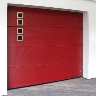 Ворота гаражные секционные Ryterna R40 slick микрополоса RAL 3002