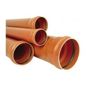 Труба ПВХ EVCI PLASTIK канализационная 110x3,2 мм 0,5 м