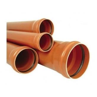 Труба ПВХ EVCI PLASTIK канализационная 160x3,2 мм 1 м