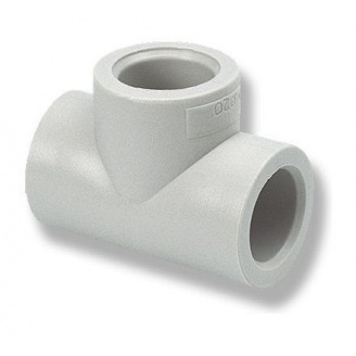 Тройник равный EVCI PLASTIK PP-R 40 мм
