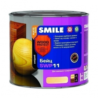 Бейц алкидный SMILE SWP-11 WOOD PROTECT Elite 2,3 л махагон