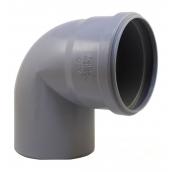 Колено EVCI PLASTIK 110 мм 90 градусов серый