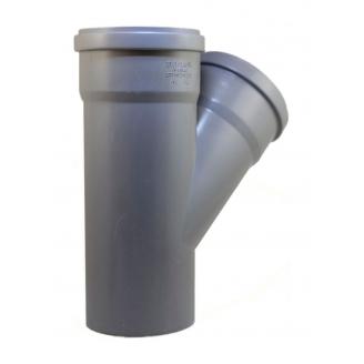 Тройник EVCI PLASTIK 110x110x110 мм 45 градусов серый
