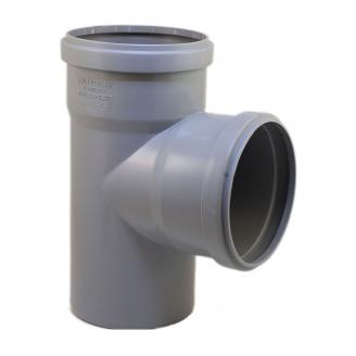Тройник EVCI PLASTIK 110x110x110 мм 90 градусов серый