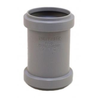Муфта EVCI PLASTIK 50 мм серый