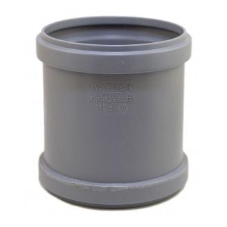Муфта EVCI PLASTIK 110 мм серый