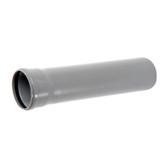 Труба ПВХ канализационная 50x1,8 мм 1 м