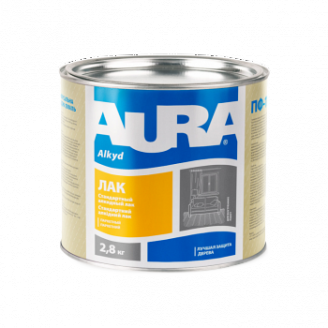 Лак паркетный Aura А 2,5 кг глянцевый