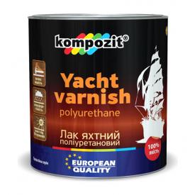 Лак для яхт полиуретановый Kompozit шелковисто-матовый 10 л