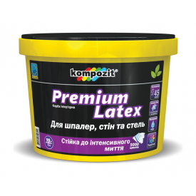 Краска интерьерная Kompozit Premium Latex АА матовая 9 л белый