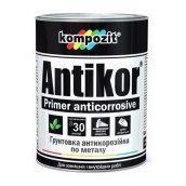 Грунтовка для металла антикоррозионная Kompozit ANTIKOR матовая 15 кг красно-коричневый