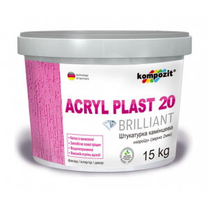 Штукатурка камешковая Kompozit Acryl Plast 20 короед 15 кг