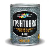 Грунтовка для металла Kompozit ГФ-021 матовая 55 кг белый