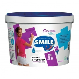 Краска интерьерная SMILE SI-22 акриловая 1,4 кг белый