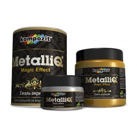 Емаль акрилова Kompozit METALLIQ металік 0,1 кг золото