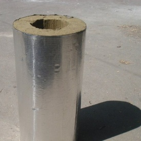 Цилиндр базальтовый фольгированный 80 кг/м3 426х50х1000 мм