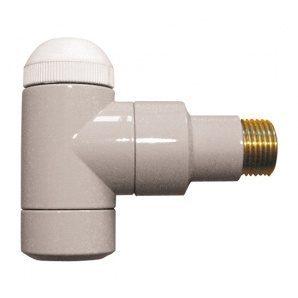 Термостатичний клапан HERZ DE LUXE TS-90 кутовий Rp1/2xR1/2 натуральний (S792409)