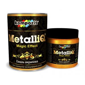 Эмаль акриловая Kompozit METALLIQ металлик 0,5 кг золото