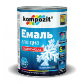 Эмаль алкидная универсальная Kompozit матовая 55 л снежно-белый