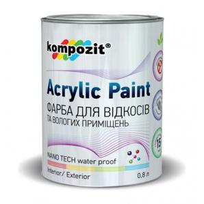 Краска для откосов Kompozit шелковисто-матовая 0,8 л белый
