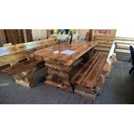 Стол бревенчатый сосновый 3 м