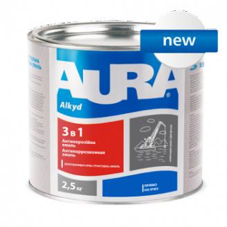 Грунт-емаль Aura 3 в 1 А 2,5 кг червоно-коричневий