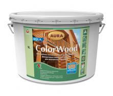 Декоративно-защитное средство Aura Wood ColorWood Aqua 9 л кипарис