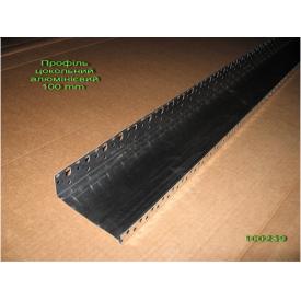 Профіль цокольний стартовий алюмінієвий 103х0,8 мм
