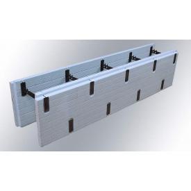 Разборной термоблок из экструдированного пенополистирола ICF block доборный 300x1250 мм