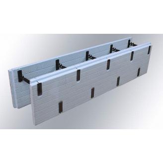 Розбірний термоблок з екструдованого пінополістиролу ICF block добірний 300x1250 мм
