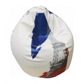 Кресло-груша SOFYNO БАББЛ 100 см с принтом Франция