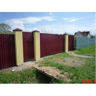 Профнастил стіновий ПС-8 0,4 мм 1,20 м з матовим полімерним покриттям коричневий