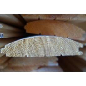 Блок-хаус з сосни цілісної з живим сучком 30х140х4500 мм