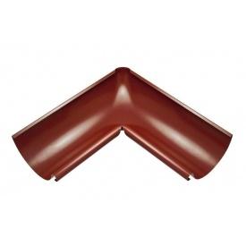 Внутрішній кут жолоба Акведук Преміум 90 градусів 125 мм темно-червоний RAL 3009