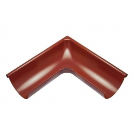 Зовнішній кут жолоба Акведук Преміум 90 градусів 125 мм темно-червоний RAL 3009