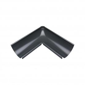 Внутрішній кут жолоба Акведук Преміум 90 градусів 125 мм графітовий RAL 7011