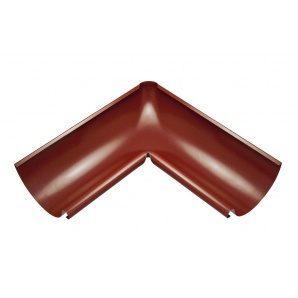 Внутренний угол желоба Акведук Премиум 90 градусов 125 мм темно-красный RAL 3009