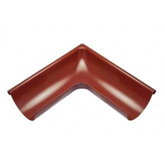 Внешний угол желоба Акведук Премиум 90 градусов 125 мм темно-красный RAL 3009
